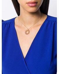 Roberto Coin Metallic 18kt Rose Gold Roman Barocco Diamond And Ruby Pendant Necklace