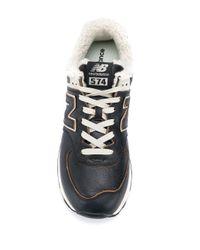 New Balance '574' Sneakers mit Faux Shearling in Blue für Herren