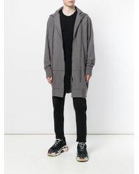 Julius Black Longline Long Sleeve T-shirt for men