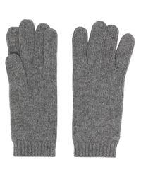 Aspesi リブエッジ 手袋 Gray