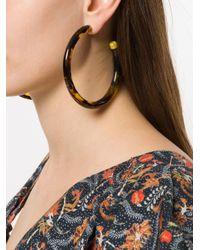 Cult Gaia - Brown Oversized Hoop Earrings - Lyst