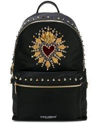 Zaino con ricamo di Dolce & Gabbana in Black