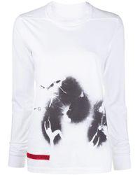 Camiseta con estampado de mancha de tinta y manga larga Rick Owens Drkshdw de color Multicolor