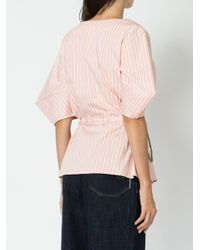 AALTO Pink Striped Blouse