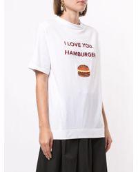 Tu Es Mon Tresor I Love You. Hamburger Tシャツ White