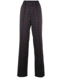 Marni Brown Patterned Tailored Trousers
