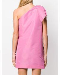 Vestido con lentejuelas de una sola manga N°21 de color Pink