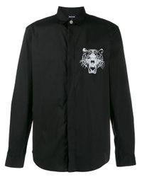 Just Cavalli Hemd mit Tiger-Print in Black für Herren