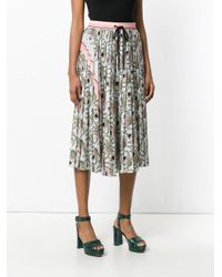 Markus Lupfer Gray Desert Flower Skirt
