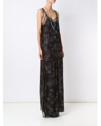 Vera Wang Black Crystal Embellished Tulle Gown