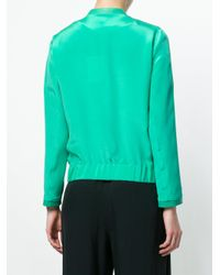 Max & Moi - Green Button Bomber Jacket - Lyst
