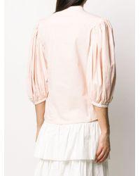 Блузка С Воротником-стойкой И Объемными Рукавами See By Chloé, цвет: Pink