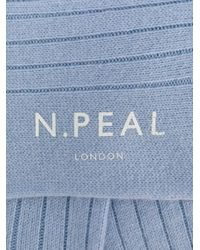N.Peal Cashmere カシミア靴下 Blue