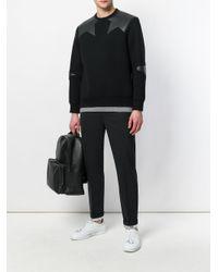 Neil Barrett - Black Contrast Hem Trousers for Men - Lyst