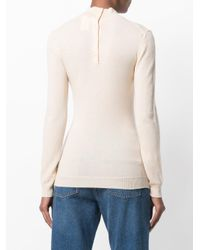 Nina Ricci - Pink Fitted High Neck Jumper - Lyst