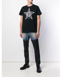 メンズ DIESEL スターロゴ Tシャツ Black