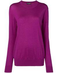 Джемпер Тонкой Вязки Dolce & Gabbana, цвет: Purple