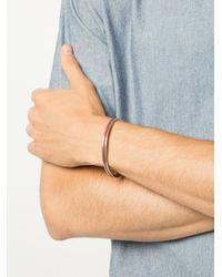 M. Cohen - Metallic Lined Cuff Bracelet for Men - Lyst