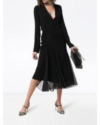 Robe à design cache-cœur Haider Ackermann en coloris Black