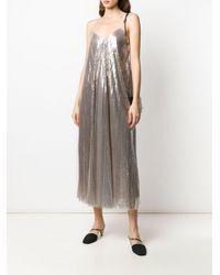 Fabiana Filippi メタリック ドレス Multicolor