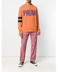 メンズ Paura ロゴ セーター Orange