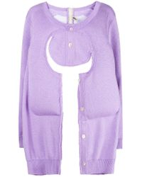 Comme des Garçons - Purple Cut-out Sweater - Lyst