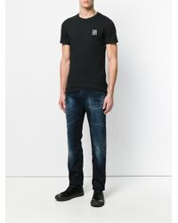 Versace Jeans - Blue Faded Straight Leg Jeans for Men - Lyst