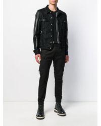 Veste à logo imprimé Balmain pour homme en coloris Black
