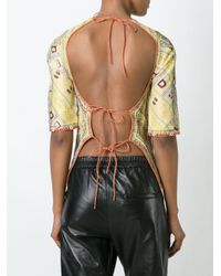 Isabel Marant - Multicolor Printed Backless Top - Lyst