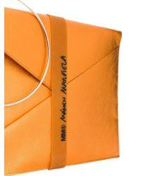 MM6 by Maison Martin Margiela Binder エンベロープ クラッチバッグ Orange