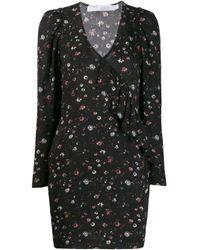 IRO Black Lonea Floral Print Dress