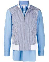メンズ Comme des Garçons レイヤード シャツ Blue