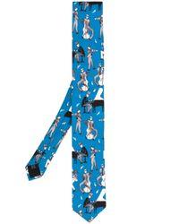 Dolce & Gabbana Blue Jazz Club Print Tie for men