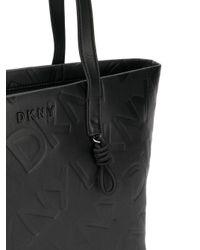DKNY ロゴ ハンドバッグ Black