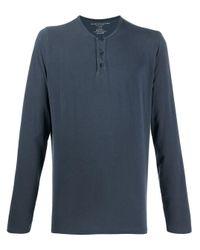 メンズ Majestic Filatures ボタン スウェットシャツ Blue