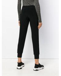 Norma Kamali Cropped Track Pants Black