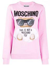 Moschino グラフィック スウェットシャツ Pink