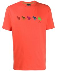 Camiseta de jersey Zebra PS by Paul Smith de hombre de color Orange