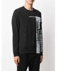 T-shirt con stampa di Stone Island in Black da Uomo