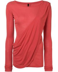 Unravel Project Red Draped Tee