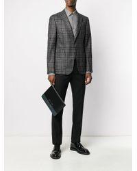 Ferragamo Black Gancini Colour-block Clutch for men