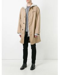Palm Angels Natural Oversized Trench Coat for men
