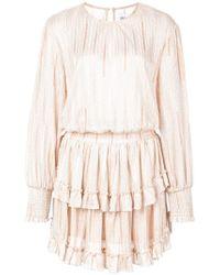 MISA Pink Striped Mini Dress