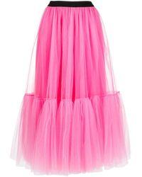 Parlor レイヤード チュールスカート Pink