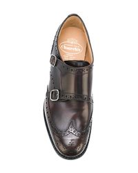 Church's Brown Punch Holes Monk Shoes for men