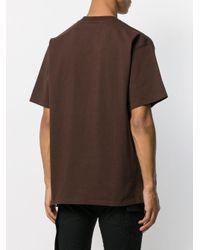 T-shirt con stampa di Golden Goose Deluxe Brand in Brown da Uomo