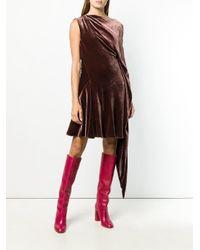 Robe évasée en velours Ferragamo en coloris Red