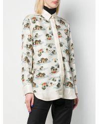 Camisa con motivo tropical Bottega Veneta de color Multicolor