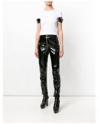 Helmut Lang - White Shiny Cuff Short Sleeve T-shirt - Lyst