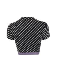 DIESEL ロゴ クロップドtシャツ Black